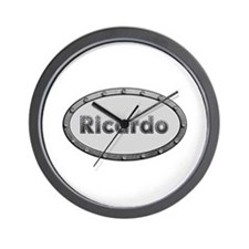 Ricardo Metal Oval Wall Clock