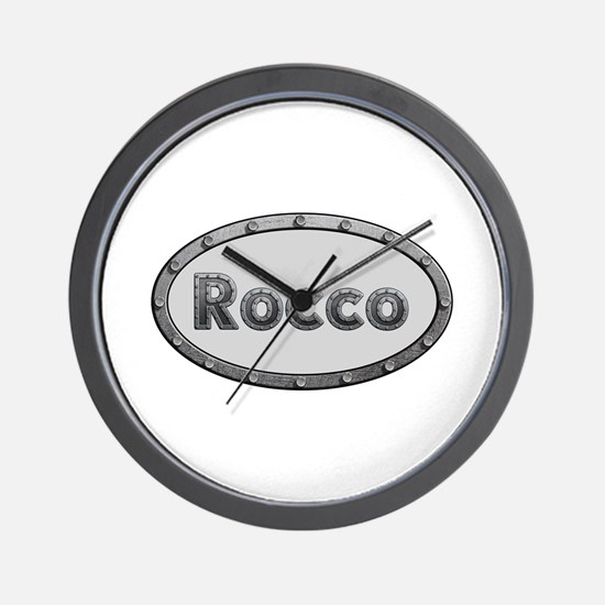 Rocco Metal Oval Wall Clock