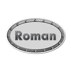 Roman Metal Oval Wall Decal