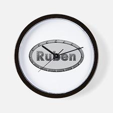 Ruben Metal Oval Wall Clock