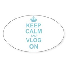 Keep Calm and Vlog on Decal