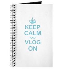 Keep Calm and Vlog on Journal