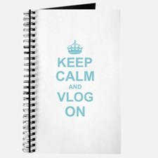 Keep Calm and Vlog on Journal