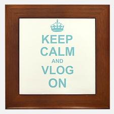 Keep Calm and Vlog on Framed Tile