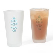 Keep Calm and Vlog on Drinking Glass