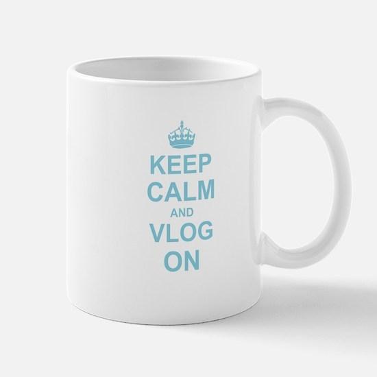 Keep Calm and Vlog on Mugs