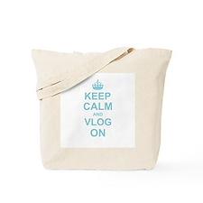 Keep Calm and Vlog on Tote Bag