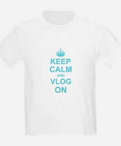 Keep Calm and Vlog on T-Shirt