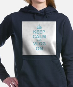Keep Calm and Vlog on Hooded Sweatshirt