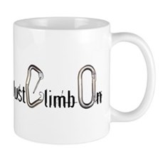 Just Climb On carabiners Mug