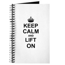 Keep Calm and Lift on Journal