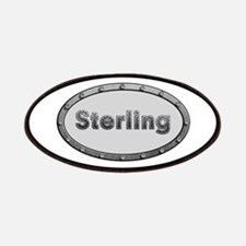 Sterling Metal Oval Patch