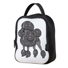 Pretty Parti-Poodle Neoprene Lunch Bag