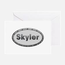 Skyler Metal Oval Greeting Card