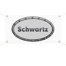 Schwartz Metal Oval Banner
