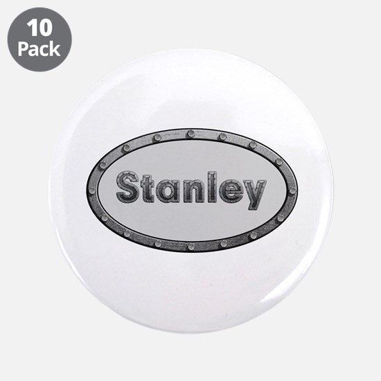 Stanley Metal Oval Big Button 10 Pack