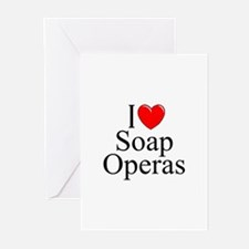 """I Love (Heart) Soap Operas"" Greeting Cards (Pk of"