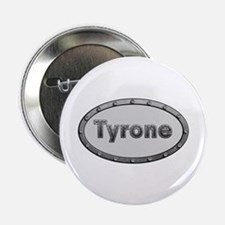 Tyrone Metal Oval Button 10 Pack