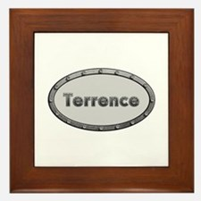 Terrence Metal Oval Framed Tile