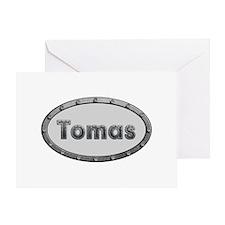 Tomas Metal Oval Greeting Card