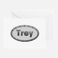 Trey Metal Oval Greeting Card