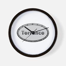 Terrance Metal Oval Wall Clock