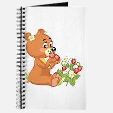 Teddy Bear Eating Strawberries Journal