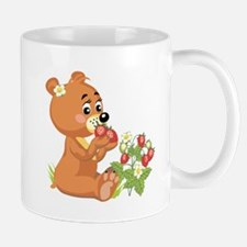 Teddy Bear Eating Strawberries Mug