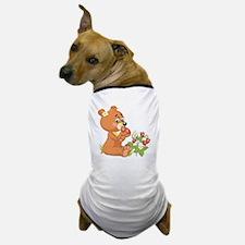 Teddy Bear Eating Strawberries Dog T-Shirt