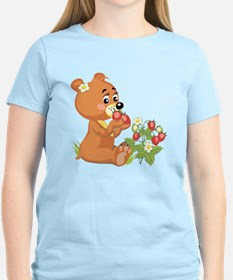 Teddy Bear Eating Strawberries T-Shirt