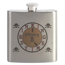 WHISKEY CLOCK Flask