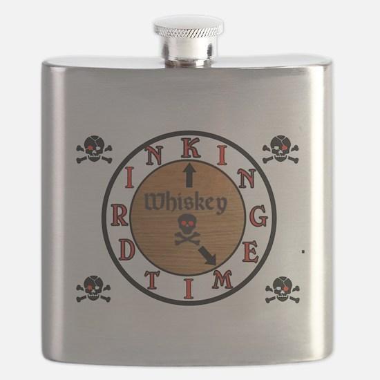 WHISKEY CLOCK Flask