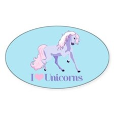 I Heart Unicorns Decal
