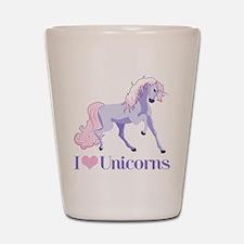 I Heart Unicorns Shot Glass