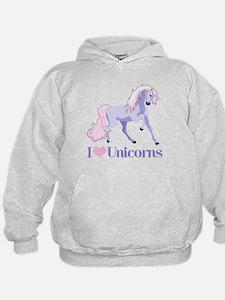 I Heart Unicorns Hoodie
