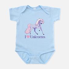 I Heart Unicorns Infant Bodysuit