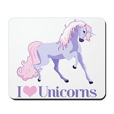 I Heart Unicorns Mousepad