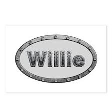 Willie Metal Oval Postcards 8 Pack