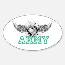 ARMY + wings Oval Decal