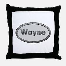 Wayne Metal Oval Throw Pillow