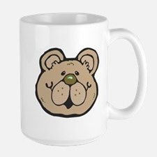 Cute Tan Teddy Bear Face Large Mug