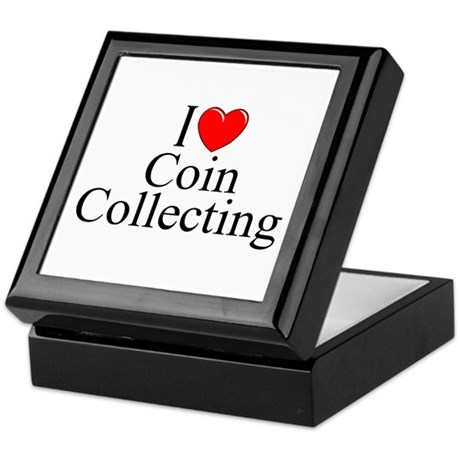 """I Love (Heart) Coin Collecting"" Keepsake Box"