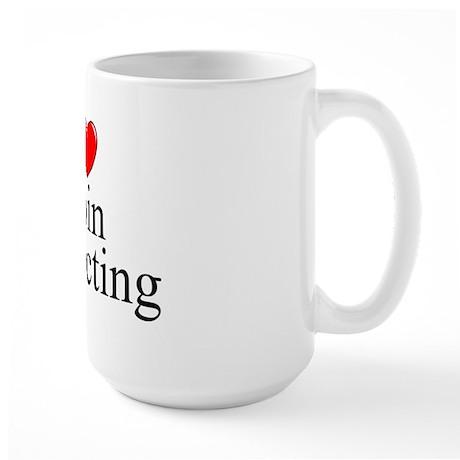 """I Love (Heart) Coin Collecting"" Large Mug"