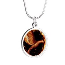 Hunger games Silver Round Necklace