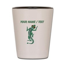 Custom Green Lizard Shot Glass