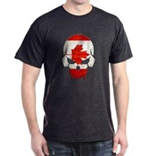 Canadian Flag Skull T-Shirt
