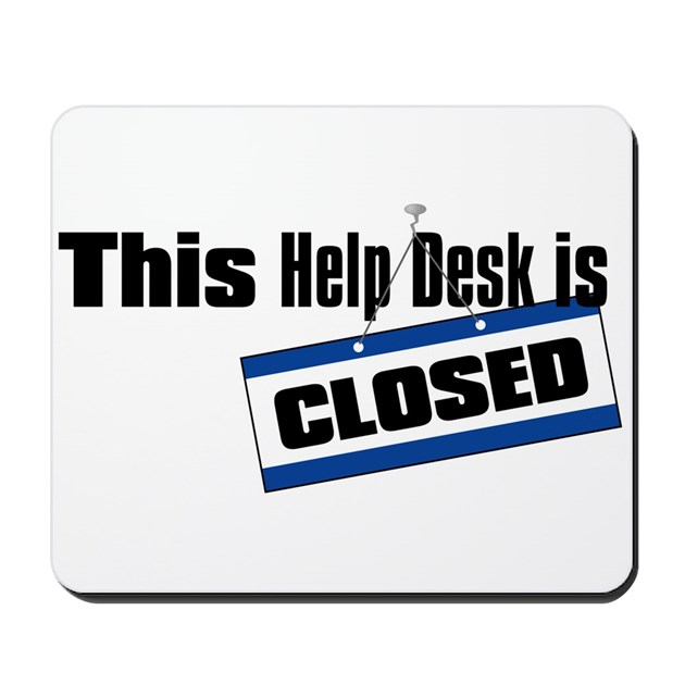 help desk closed mousepad 125554976 on ipad desk