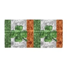 St. Patricks Day Flag Beach Towel