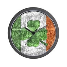 St. Patricks Day Flag Wall Clock