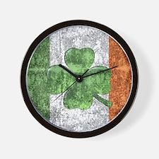 St. Patricks Day Flag Wall Clock